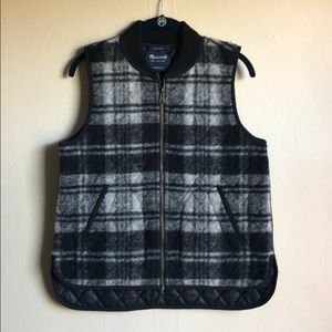 Madewell Black Gray Vest Small Reversible